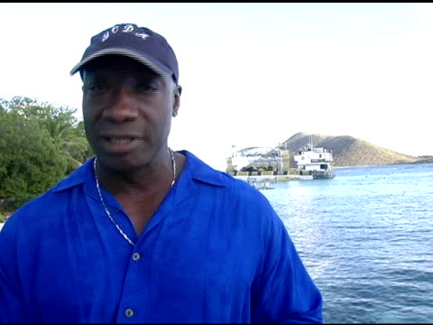 michael clarke duncan on being invited to cuervonation, on cinco de mayo, on wanting to be on stage with hoobastank, and on relaxing in the caribbean... - michael clarke duncan stock videos & royalty-free footage