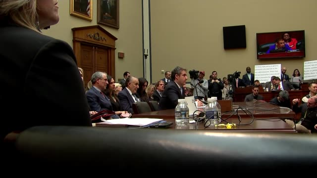 Michael Cohen brands Donald Trump as 'racist' 'conman' and 'cheat' USA Washington DC Capitol Hill Rayburn House Office Building INT Michael Cohen at...