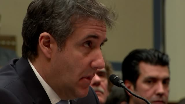 Michael Cohen brands Donald Trump as 'racist' 'conman' and 'cheat' USA Washington DC Capitol Hill Rayburn House Office Building INT Michael Cohen...
