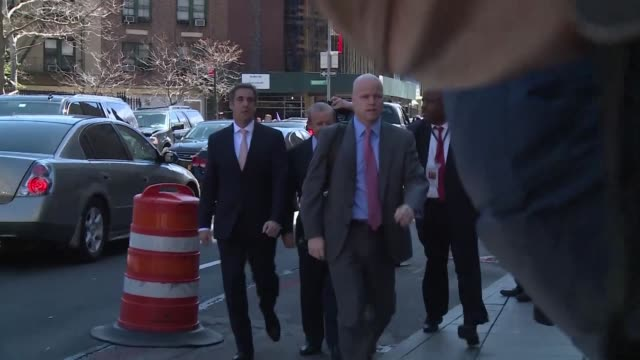 michael cohen us president donald trump's personal lawyer who represented him in a deal involving porn star stormy daniels arrives at court - stormy daniels video bildbanksvideor och videomaterial från bakom kulisserna