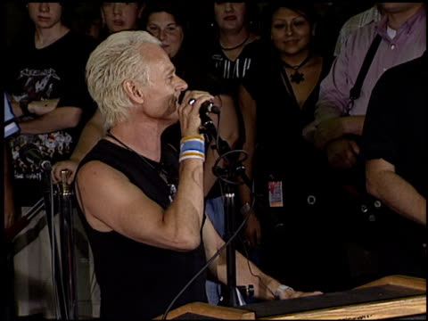 Michael Des Barres at the Sonic Youth Rockwalk at Guitar Center in Hollywood California on August 18 2003