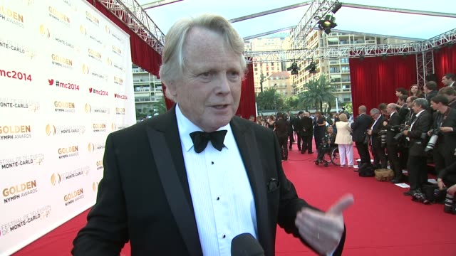 stockvideo's en b-roll-footage met interview michael dobbs where he was a week ago on at the 54th montecarlo television festival day 5 on june 11 2014 in montecarlo monaco - michael dobbs