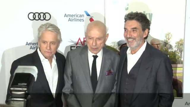 Michael Douglas Alan Arkin and Chuck Lorre at A Netflix Original Series The Kominsky Method Los Angeles Premiere At AFI Fest at TCL Chinese Theatre...