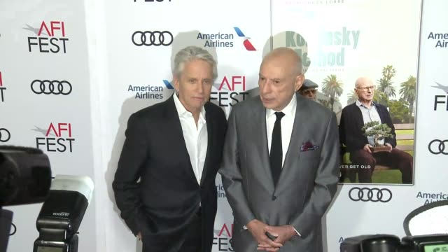 Michael Douglas and Alan Arkin at A Netflix Original Series The Kominsky Method Los Angeles Premiere At AFI Fest at TCL Chinese Theatre on November...