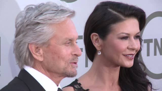 Michael Douglas and Catherine ZetaJones at AFI's 42nd Life Achievement Award Honoring Jane Fonda at Dolby Theatre on June 05 2014 in Hollywood...