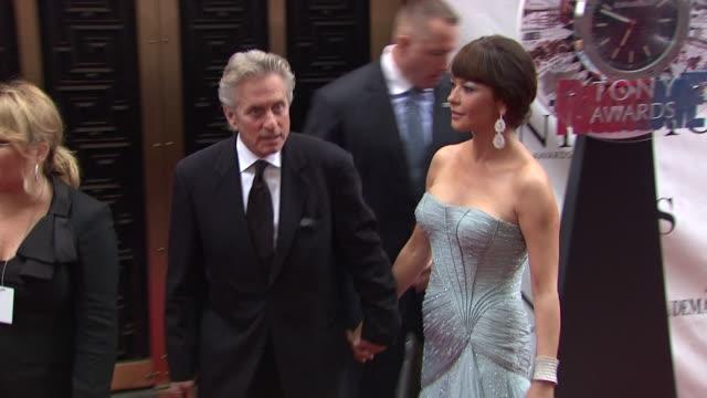 Michael Douglas and Catherine ZetaJones at the 64th Annual Tony Awards at New York NY