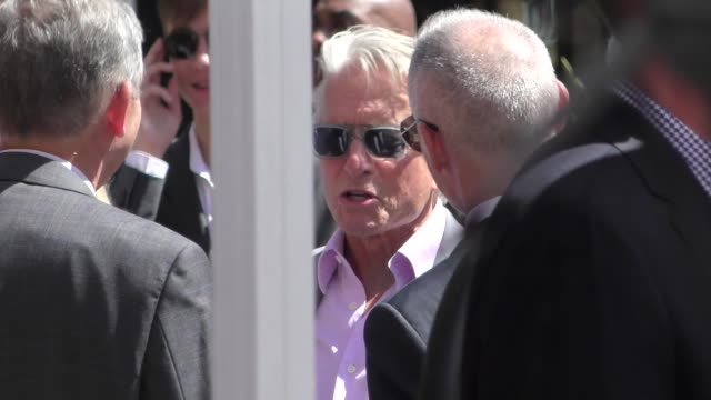 michael douglas arrives at eric mccormack's star ceremony on the hollywood walk of fame in hollywood in celebrity sightings in los angeles, - eric mccormack stock videos & royalty-free footage