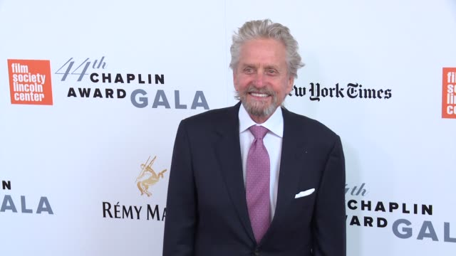 michael douglas at 44th chaplin award gala - arrivals at david h. koch theater, lincoln center on may 8, 2017 in new york city. - michael douglas stock videos & royalty-free footage
