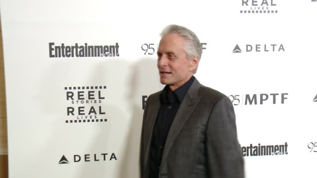 michael douglas at 5th annual reel stories real lives benefiting the motion picture television fund in los angeles ca - motion picture & television fund stock videos & royalty-free footage