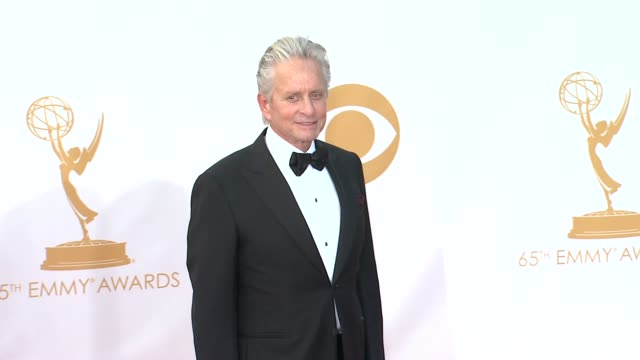 michael douglas at 65th annual primetime emmy awards - arrivals michael douglas at 65th annual primetime emmy at nokia theatre l.a. live on september... - michael douglas stock videos & royalty-free footage