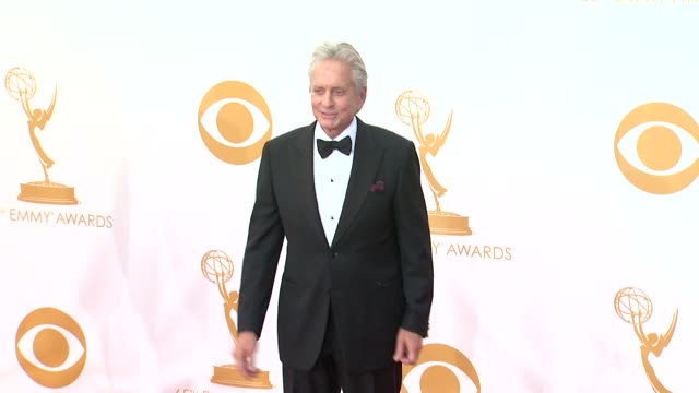michael douglas at 65th annual primetime emmy awards - arrivals michael douglas at 65th annual primetime emmy at nokia theatre l.a. live on september... - annual primetime emmy awards stock-videos und b-roll-filmmaterial