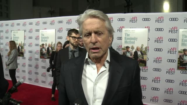 INTERVIEW Michael Douglas at A Netflix Original Series The Kominsky Method Los Angeles Premiere At AFI Fest at TCL Chinese Theatre on November 10...