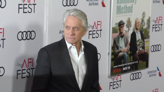 michael douglas at a netflix original series the kominsky method los angeles premiere at afi fest at tcl chinese theatre on november 10 2018 in... - netflix stock videos & royalty-free footage