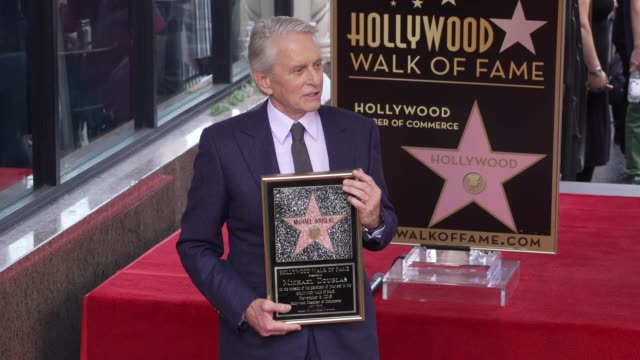 michael douglas at michael douglas honored with a star on the hollywood walk of fame on november 06, 2018 in hollywood, california. - michael douglas stock videos & royalty-free footage