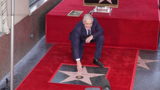 michael douglas at michael douglas honored with a star on the hollywood walk of fame on november 06 2018 in hollywood california - walk of fame stock-videos und b-roll-filmmaterial
