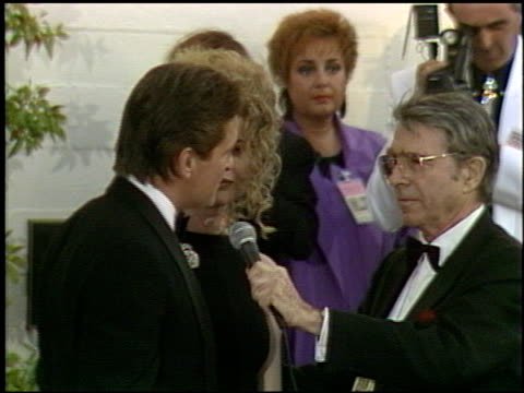 michael douglas at the 1991 academy awards at the shrine auditorium in los angeles, california on march 25, 1991. - shrine auditorium stock videos & royalty-free footage