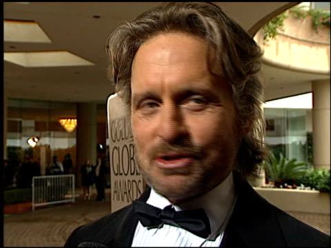 michael douglas at the 1996 golden globe awards at the beverly hilton in beverly hills, california on january 21, 1996. - michael douglas stock videos & royalty-free footage