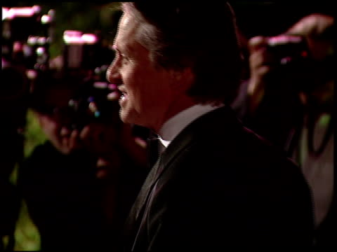 michael douglas at the 1997 academy awards vanity fair party at the shrine auditorium in los angeles, california on march 24, 1997. - michael douglas stock videos & royalty-free footage
