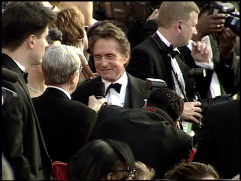 michael douglas at the 2001 academy awards at the shrine auditorium in los angeles california on march 25 2001 - 73rd annual academy awards stock videos & royalty-free footage