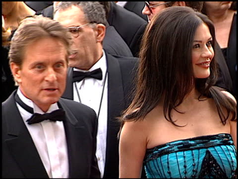 michael douglas at the 2001 golden globe awards at the beverly hilton in beverly hills, california on january 21, 2001. - michael douglas stock videos & royalty-free footage