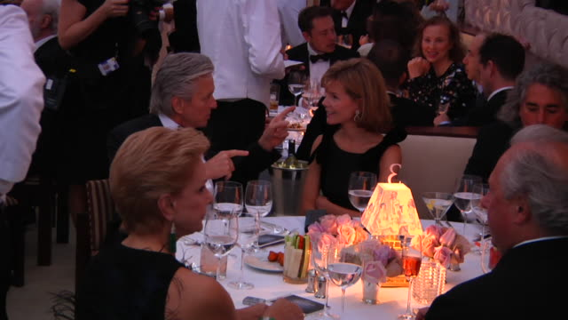 michael douglas at the 2012 vanity fair oscar party hosted by graydon carter inside party at west hollywood ca - vanity fair oscar party stock videos & royalty-free footage