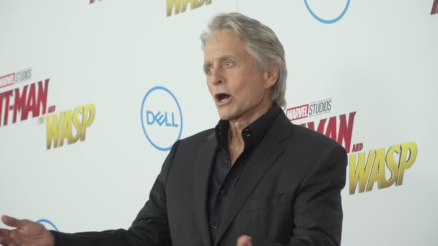 """michael douglas at the """"ant-man and the wasp"""" world premiere at the el capitan theatre on june 25, 2018 in hollywood, california. - michael douglas stock videos & royalty-free footage"""