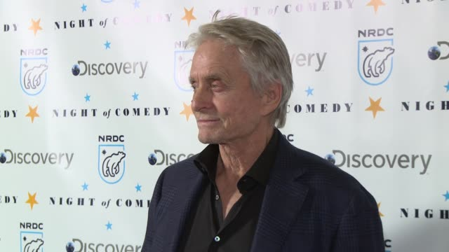 michael douglas at the natural resources defense council presents night of comedy benefit hosted by seth meyers at new york historical society on... - seth meyers stock videos and b-roll footage