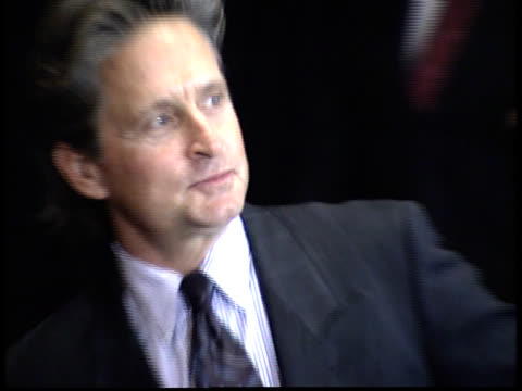michael douglas poses for photographs - friars roast 1993 stock videos and b-roll footage
