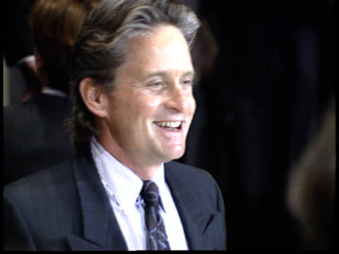 michael douglas talks to reporters - friars roast 1993 stock videos and b-roll footage
