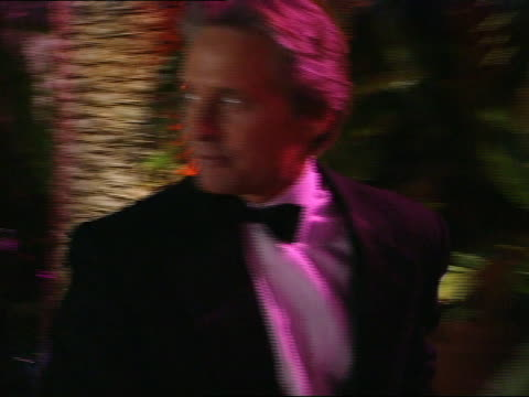 michael douglas walking into oscar party - 69th annual academy awards stock videos and b-roll footage