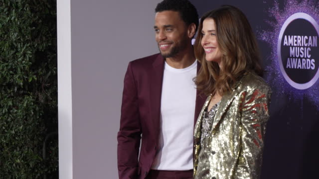 michael ealy and cobie smulders at the 2019 american music awards at microsoft theater on november 24 2019 in los angeles california - american music awards stock videos & royalty-free footage