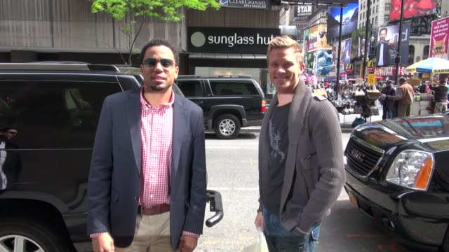 michael ealy and warren kole at the vh1 studio michael ealy and warren kole at the vh1 studio on may 11 2012 in new york new york - vh1 stock-videos und b-roll-filmmaterial