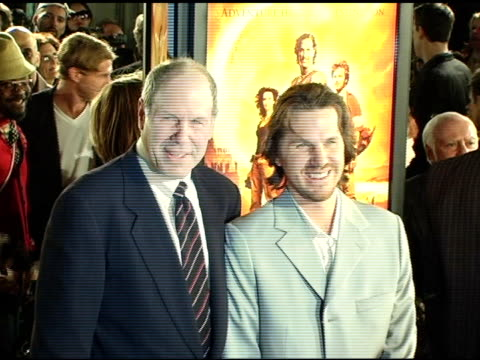 michael eisner and breck eisner at the 'sahara' los angeles premiere at grauman's chinese theatre in hollywood california on april 4 2005 - breck eisner stock videos & royalty-free footage