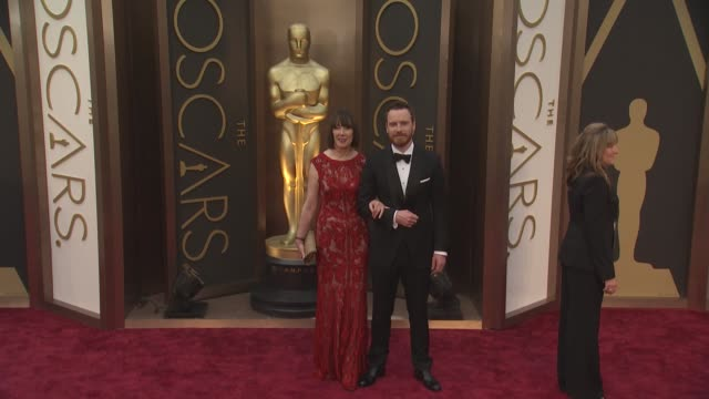 Michael Fassbender and Adele Fassbender 86th Annual Academy Awards Arrivals at Hollywood Highland Center on March 02 2014 in Hollywood California