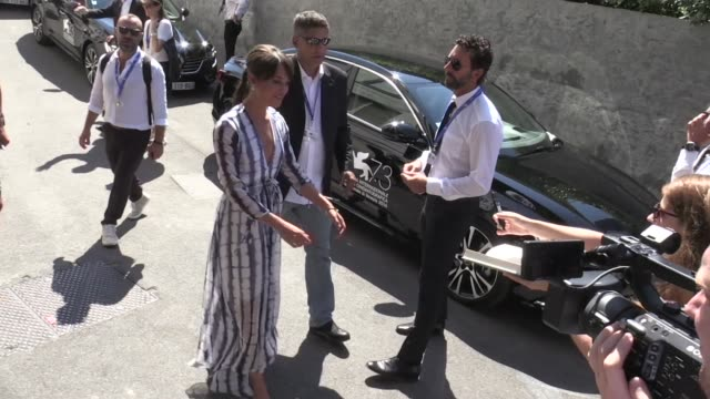 Michael Fassbender and Alicia Vikander at the Venice Biennale Film Festival 2016 the actors are in town to present their new movie The light between...