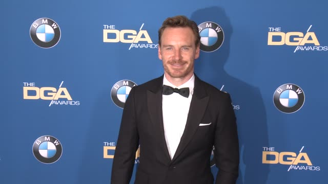 michael fassbender at 69th annual directors guild of america awards in los angeles, ca 2/4/17 - director's guild of america stock videos & royalty-free footage