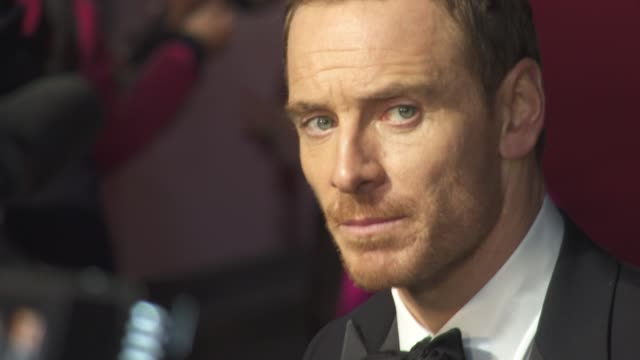 michael fassbender at 'steve jobs' closing night gala bfi london film festival at 'steve jobs' closing night gala bfi london film festival at odeon... - odeon leicester square stock videos and b-roll footage