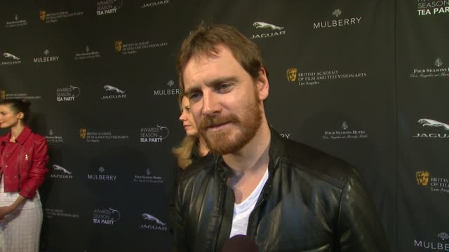 interview michael fassbender on being a part of the afternoon what bafta's support means to him the last time he had high tea who he'd love to meet... - bafta la tea party stock videos and b-roll footage