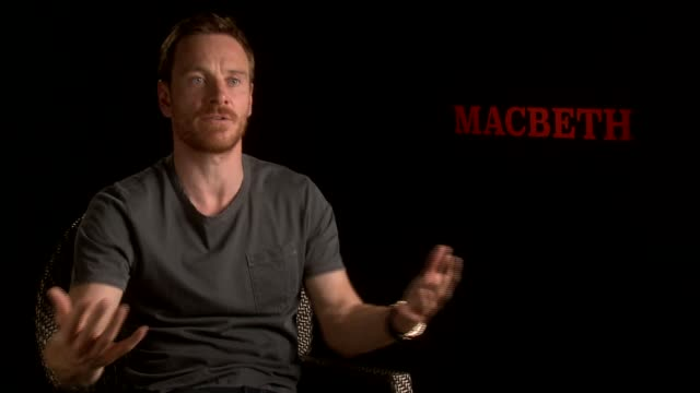 michael fassbender on taking on shakespeare at 'macbeth' interviews on may 15, 2015 in cannes, france. - macbeth fictional character stock videos & royalty-free footage