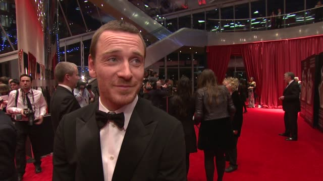michael fassbender on the iftas, what makes it stand out and on the future of irish cinema at the iftas at convention centre dublin, ireland on... - irish film and television awards stock videos & royalty-free footage