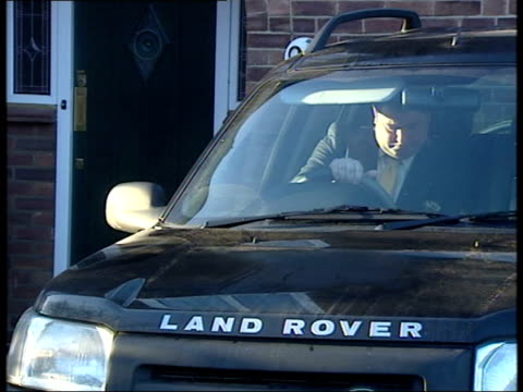 michael fawcett set to leave job as royal aide itn michael fawcett as drives towards from house in land rover car pan - michael fawcett stock videos and b-roll footage