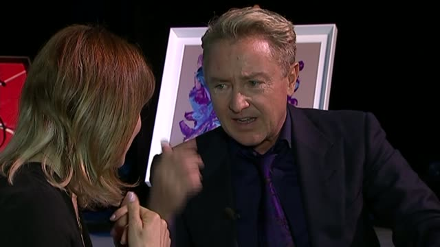 michael flatley takes up painting ahead of retirement from stage; england: london: dominion theatre: int flatley interview sot - on his injuries... - the dominion theatre stock videos & royalty-free footage