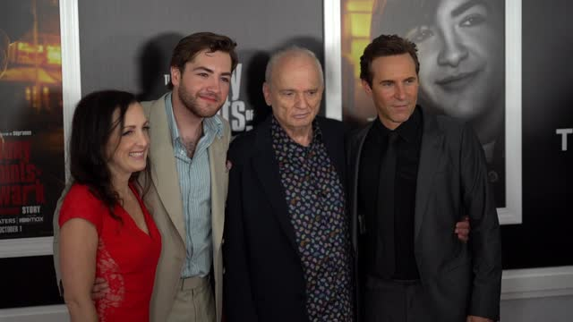 """stockvideo's en b-roll-footage met michael galdolfini, alessandro nivola and david chase attend the """"the many saints of newark"""" tribeca fall preview at beacon theatre on september 22,... - alessandro nivola"""
