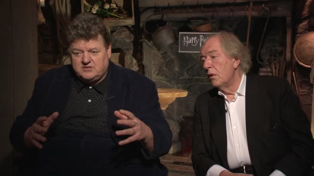 Michael Gambon and Robbie Coltrane on living up to their characters for their fans on being on their best behavior Says they are moved by the...