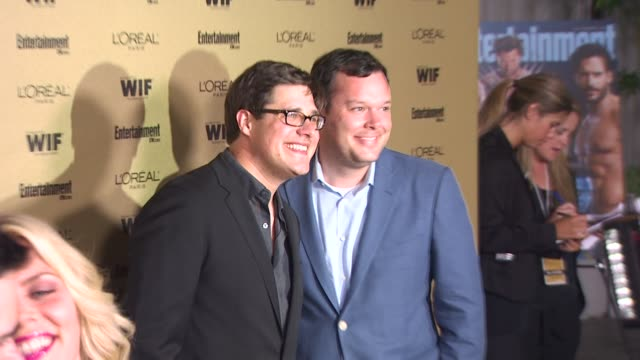 michael gladis and rich sommer at the entertainment weekly and women in film pre-emmy party at west hollywood ca. - pre emmy party stock videos & royalty-free footage