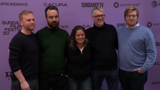 "stockvideo's en b-roll-footage met michael gottwald josh penn becky glupczynski paul mezy and dan janvey at the ""wendy"" sundance premiere presented by searchlight pictures sundance... - sundance film festival"