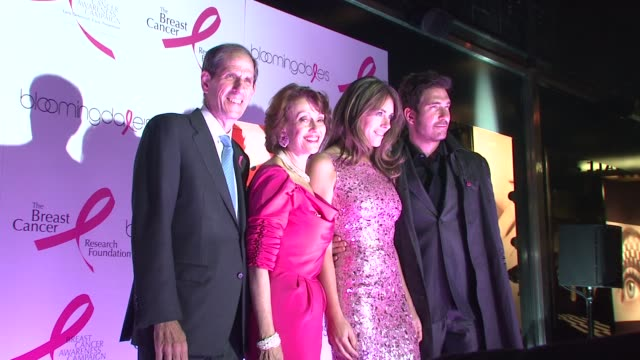 Michael Gould Evelyn Lauder Elizabeth Hurley and Dylan McDermott at the 10th Anniversary of Estee Lauder Raising Funds for Breast Cancer at New York...