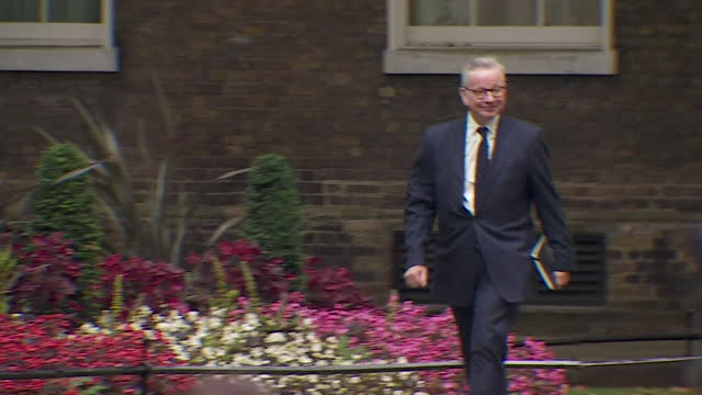 michael gove arriving at 10 downing street for cabinet reshuffle, where he was appointed new minister for housing, communities and local government,... - politics and government stock videos & royalty-free footage