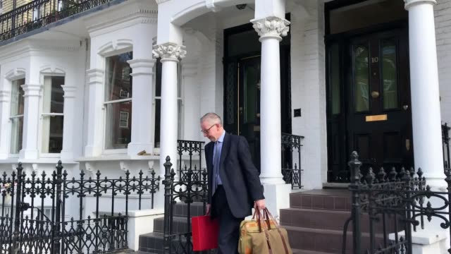 Michael Gove declines to answer questions as he leaves his home on the morning the EU agreed to extend the Brexit process until October 31 Gove was a...