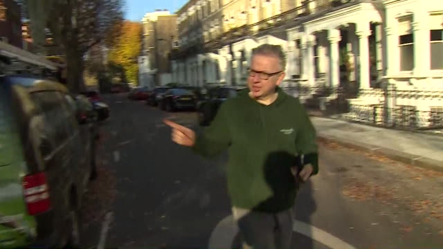 "michael gove doorstepped during run says ""i'm totally supportive of the pm, i think she is doing a fantastic job"" - mp stock videos & royalty-free footage"